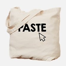 Paste Black Tote Bag