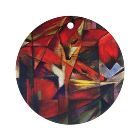 The Fox by Franz Marc Ornament (Round)