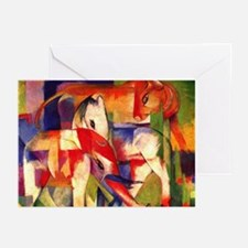 Elephant Horse Cow by Franz Marc Greeting Cards-10