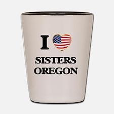 I love Sisters Oregon Shot Glass