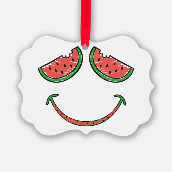 Cute Funny Watermelon Picture Ornament