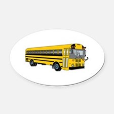School Bus Oval Car Magnet