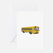 School Bus Greeting Cards