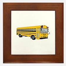 School Bus Framed Tile