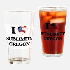 I love Sublimity Oregon Drinking Glass