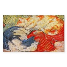 Cats by Franz Marc Rectangle Decal