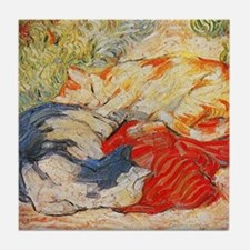 Cats by Franz Marc Tile Coaster