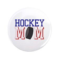 Hockey Mom Button