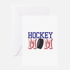 Hockey Mom Greeting Cards