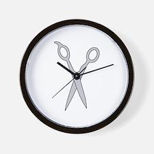 Cutting Shears Wall Clock