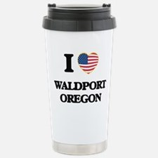 I love Waldport Oregon Travel Mug