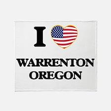 I love Warrenton Oregon Throw Blanket