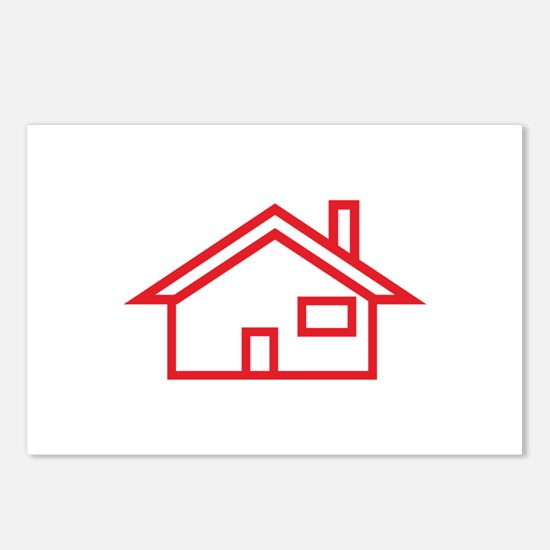 House Outline Postcards (Package of 8)