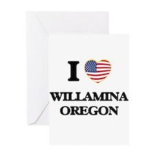 I love Willamina Oregon Greeting Cards