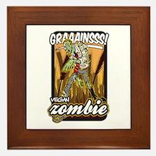 Vegan Zombie Framed Tile