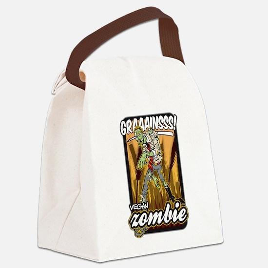 Vegan Zombie Canvas Lunch Bag