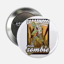 "Vegan Zombie 2.25"" Button"
