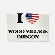 I love Wood Village Oregon Magnets