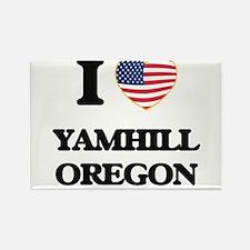 I love Yamhill Oregon Magnets