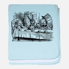 Vintage Alice in Wonderland baby blanket