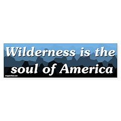 Wilderness is the soul of America bumper sticker