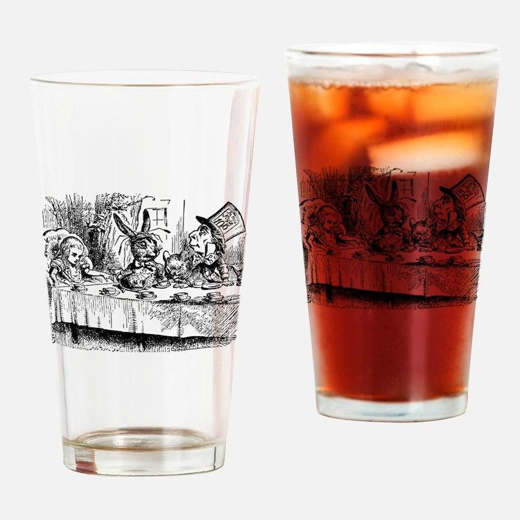 Vintage Alice in Wonderland Drinking Glass