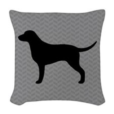 Curly Coated Retriever Woven Throw Pillow