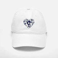 Blue Gymnastics Heart Baseball Baseball Baseball Cap