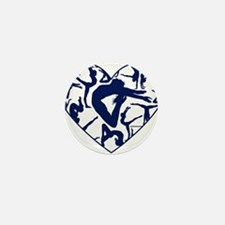 Blue Gymnastics Heart Mini Button (10 pack)