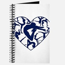 Blue Gymnastics Heart Journal