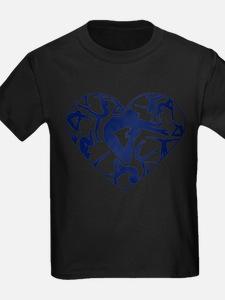 Blue Gymnastics Heart T-Shirt