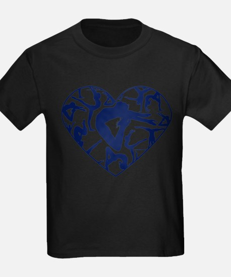 Blue Gymnastics Heart T-Shirt