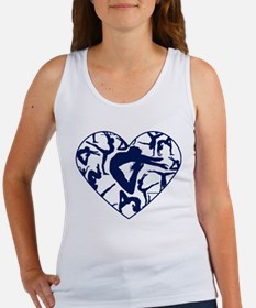 Blue Gymnastics Heart Tank Top