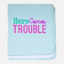 Here Comes Trouble Girls baby blanket