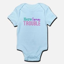Here Comes Trouble Girls Body Suit