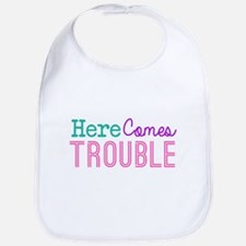 Here Comes Trouble Girls Bib