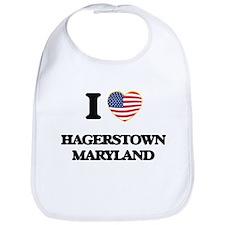 I love Hagerstown Maryland Bib