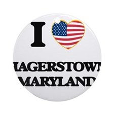 I love Hagerstown Maryland Ornament (Round)
