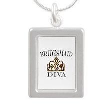 Bridesmaid Diva Silver Portrait Necklace Necklaces
