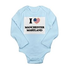 I love Manchester Maryland Body Suit