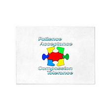 Autism Puzzle Piece design 5'x7'Area Rug