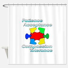 Autism Puzzle Piece design Shower Curtain