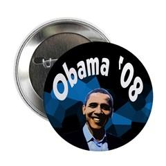 Dark Abstract Obama '08 button