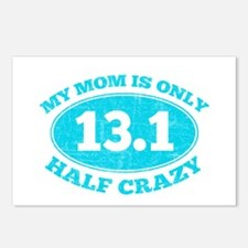 Half Crazy mom Postcards (Package of 8)
