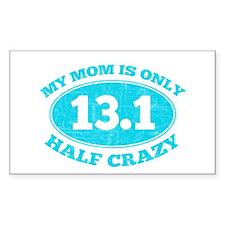 Half Crazy mom Decal