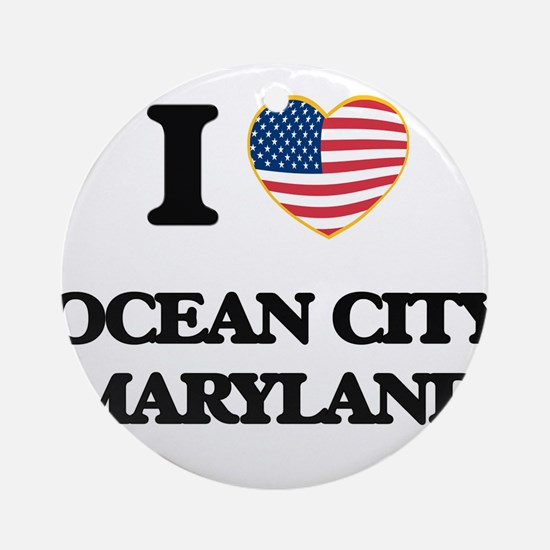 I love Ocean City Maryland Ornament (Round)