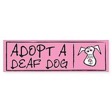 Adopt A Deaf Dog Bumper Bumper Sticker