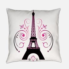 Eiffel Tower Gradient Swirl Design Everyday Pillow