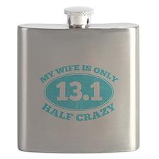 Half Crazy Wife Flask