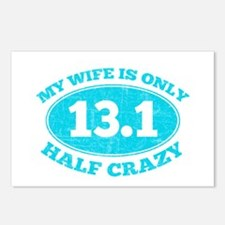 Half Crazy Wife Postcards (Package of 8)